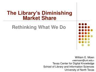 Rethinking What We Do