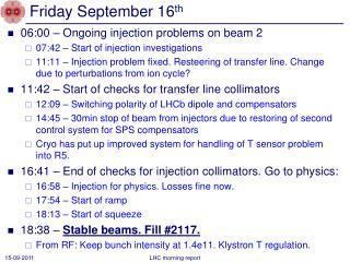 Friday September 16 th