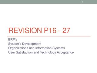 Revision p16 - 27