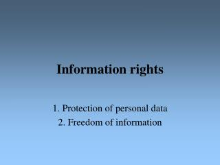 Information rights