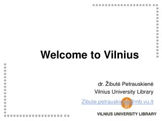 Welcome to Vilnius