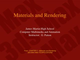 Materials and Rendering