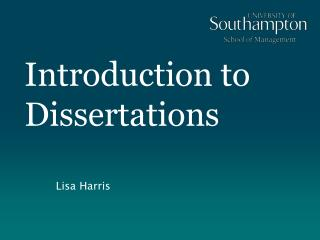 Introduction to Dissertations