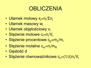 OBLICZENIA