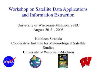 Workshop on Satellite Data Applications and Information Extraction