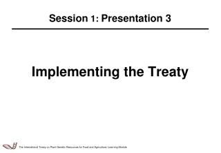 Implementing the Treaty