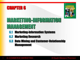 CHAPTER 6 MARKETING-INFORMATION MANAGEMENT