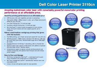 Dell Color Laser Printer 3110cn