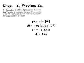 Chap.  2. Problem 2a.