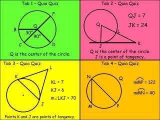 Tab 1 – Quia Quiz