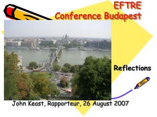 EFTRE  Conference Budapest