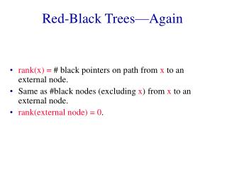 Red-Black Trees—Again