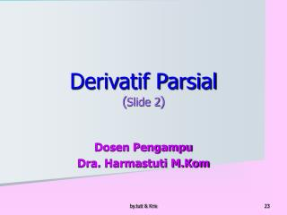 Derivatif Parsial ( Slide 2 )