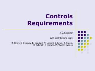 Controls Requirements