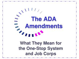 The ADA Amendments