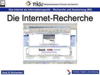 Internetrecherche – Möglichkeiten für den Lehrer