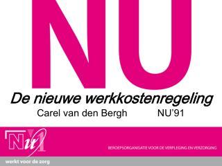 De nieuwe werkkostenregeling  Carel van den Bergh           NU'91
