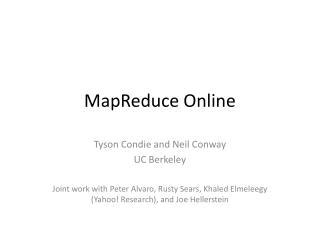 MapReduce Online