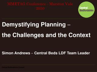 Demystifying Planning  – the Challenges and the Context