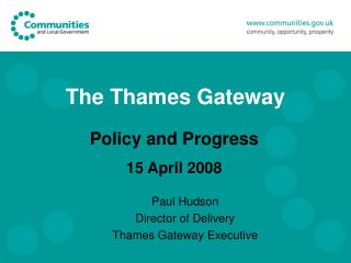 The Thames Gateway