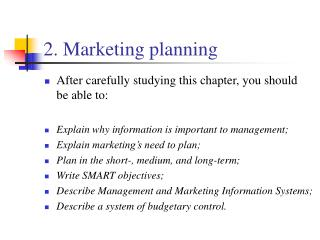 2. Marketing planning