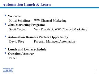 Automation Lunch & Learn