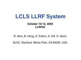 LCLS  LLRF  System