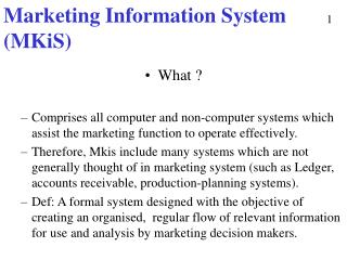 Marketing Information System (MKiS)