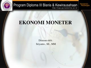 EKONOMI MONETER