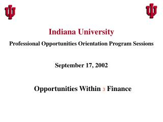 Opportunities Within  3  Finance