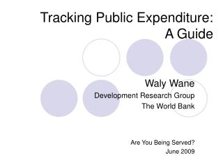 Tracking Public Expenditure: A Guide