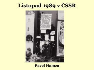 Listopad 1989 v ČSSR