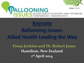 Keynote Ballooning Issues: Allied Health Leading the Way