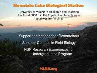 Mountain Lake Biological Station