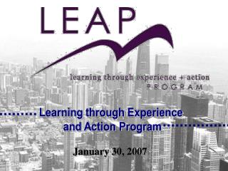 Learning through Experience  and Action Program