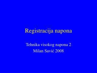 Registracija napona
