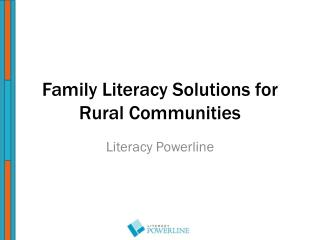 Family Literacy Solutions for Rural Communities
