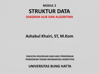 MODUL 2  STRUKTUR DATA DIAGRAM ALIR DAN ALGORITMA