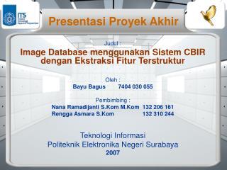 Presentasi Proyek Akhir