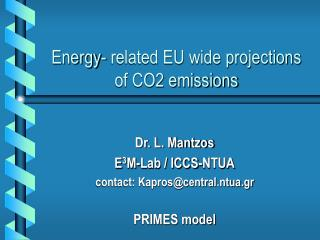 Energy- related EU wide projections of CO2 emissions