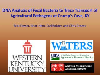 DNA Analysis of Fecal Bacteria to Trace Transport of Agricultural Pathogens at Crump's Cave, KY
