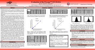 Evaluation of the Presage™ ST2 ELISA  Jun Lu 1 , David G. Grenache 1,2