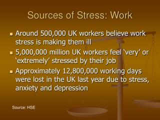 Sources of Stress: Work