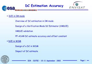 DC Estimation Accuracy