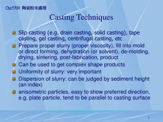Casting Techniques