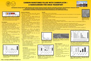 CARBON NANOTUBES FILLED WITH CARBOPLATIN �  A NANOCARRIER FOR DRUG TRANSPORT