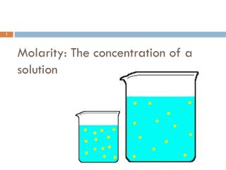 Molarity: The concentration of a solution