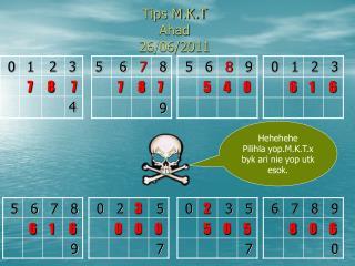 Tips M.K.T  Ahad 26/06/2011