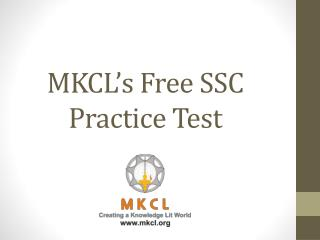 MKCL's Free SSC Practice Test