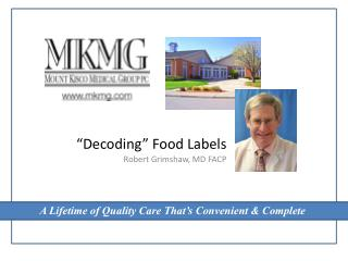 """Decoding"" Food Labels"